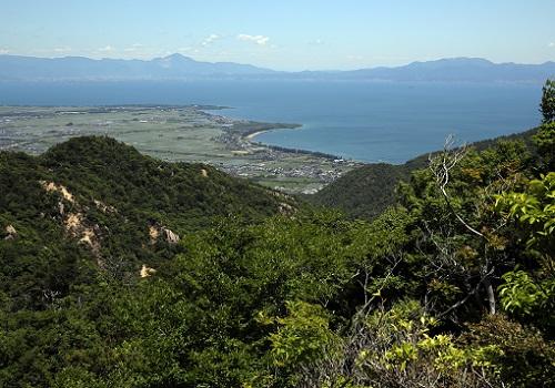 オウム岩から霊仙山.JPG